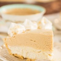 Double Layer No Bake Peanut Butter Cheesecake Recipe