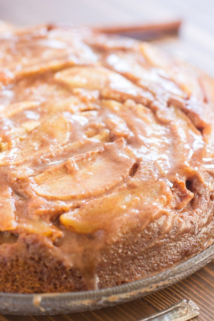 Pumpkin Apple Upside Down Cake recipe image thegoldlininggirl.com 4