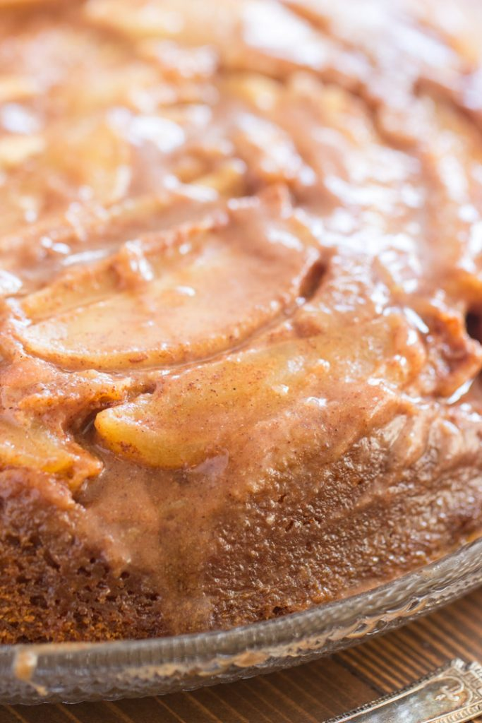 Pumpkin Apple Upside Down Cake recipe image thegoldlininggirl.com 6