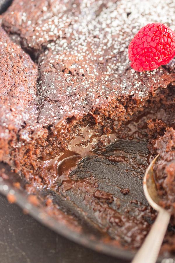 Super Easy Chocolate Cobbler recipe image thegoldlininggirl.com 600x900 2