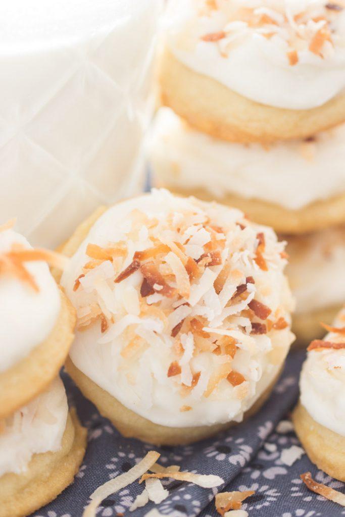 Toasted Coconut Amish Sugar Cookies recipe image thegoldlininggirl.com 5