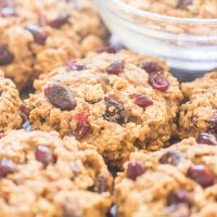 Cranberry Walnut Trail Mix Cookies