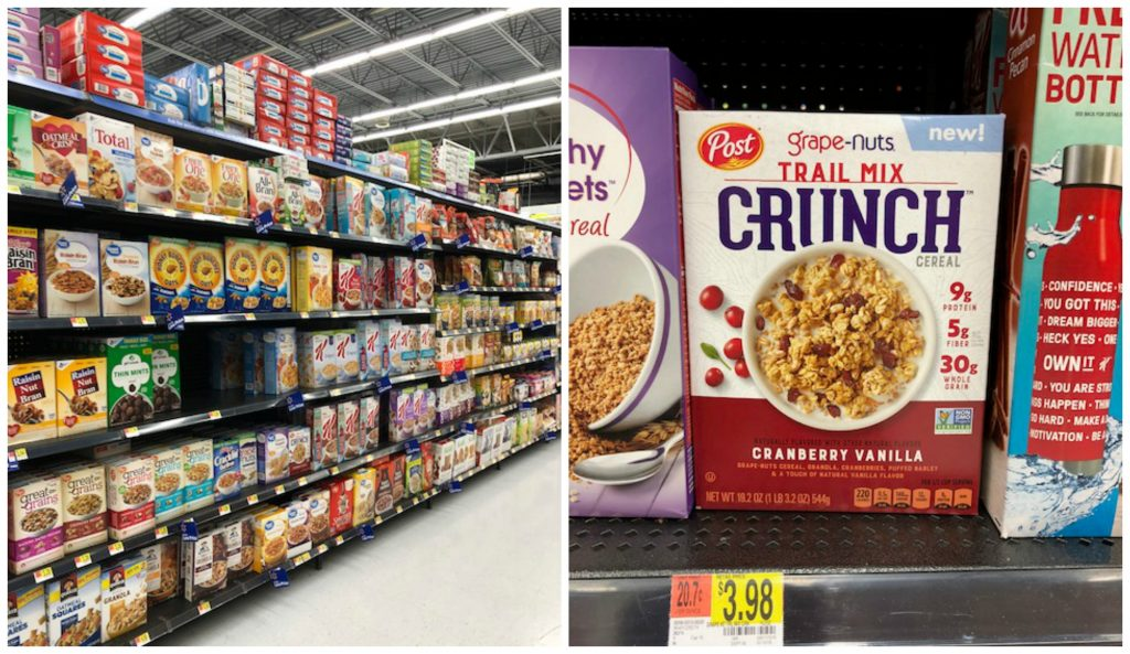 Grape Nuts Trail Mix Crunch walmart collage
