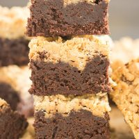 Peanut Butter Streusel Brownies Recipe