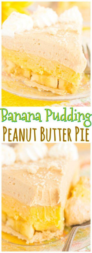 Banana Pudding Peanut Butter Pie recipe image thegoldlininggirl.com pin 1