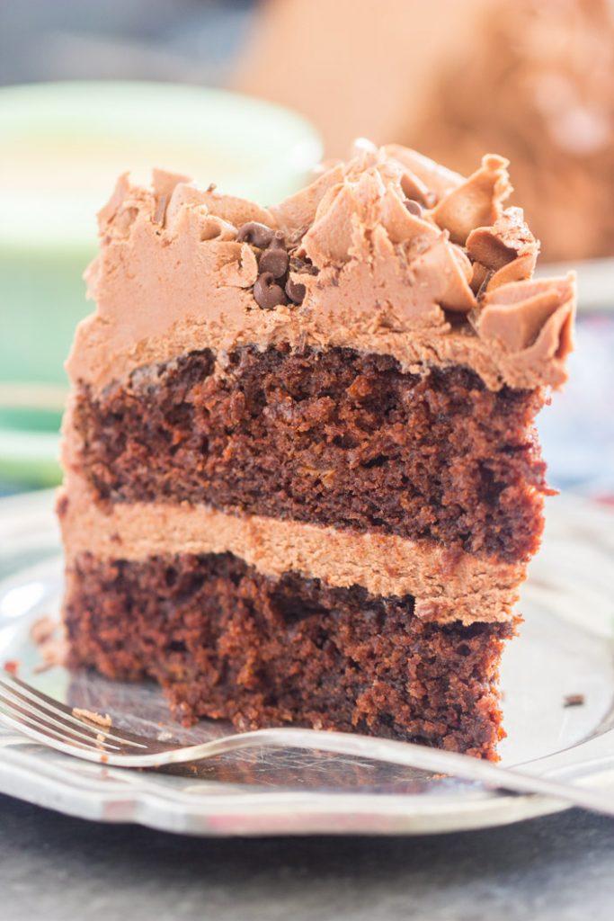 Chocolate Carrot Cake recipe image thegoldlininggirl.com 18