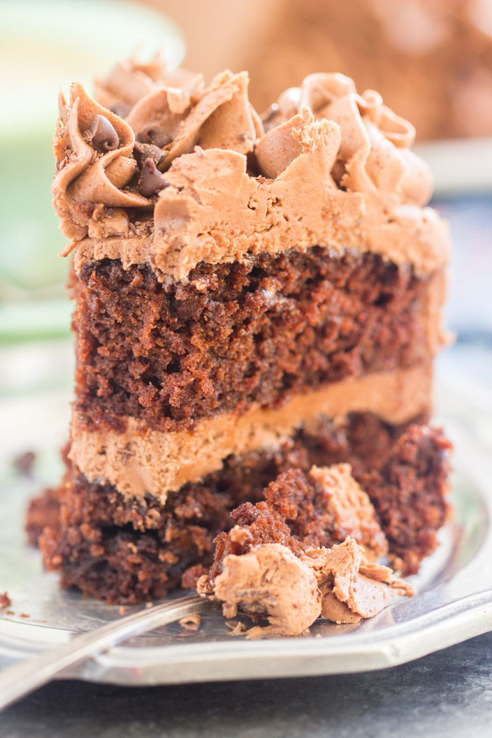 Chocolate Carrot Cake With Chocolate Cream Cheese Frosting