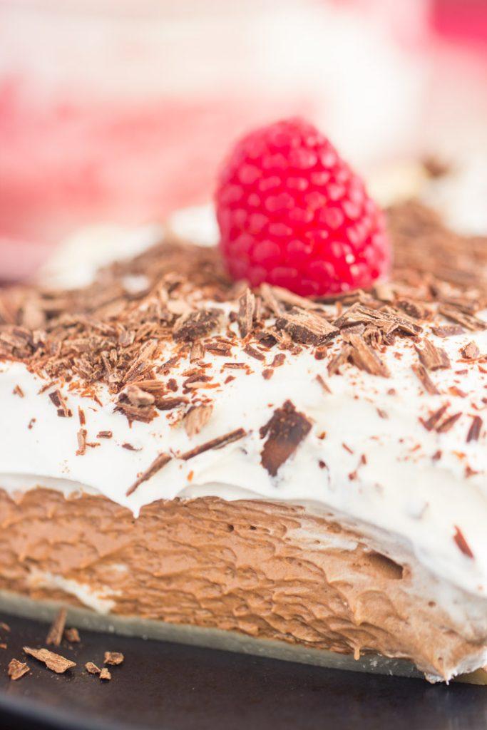 Chocolate Irish Cream Pie recipe image thegoldlininggirl.com 8