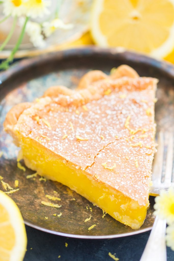 Lemon Chess Pie recipe image thegoldlininggirl.com 11