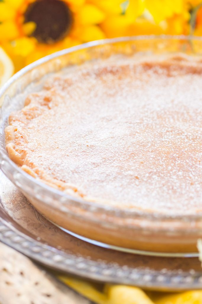 Lemon Chess Pie recipe image thegoldlininggirl.com 5