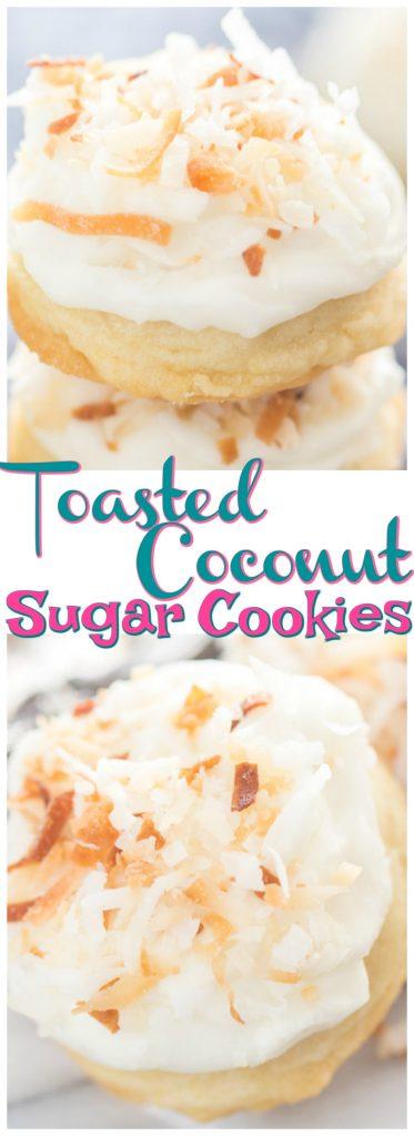 Toasted Coconut Amish Sugar Cookies recipe image thegoldlininggirl.com pin 1