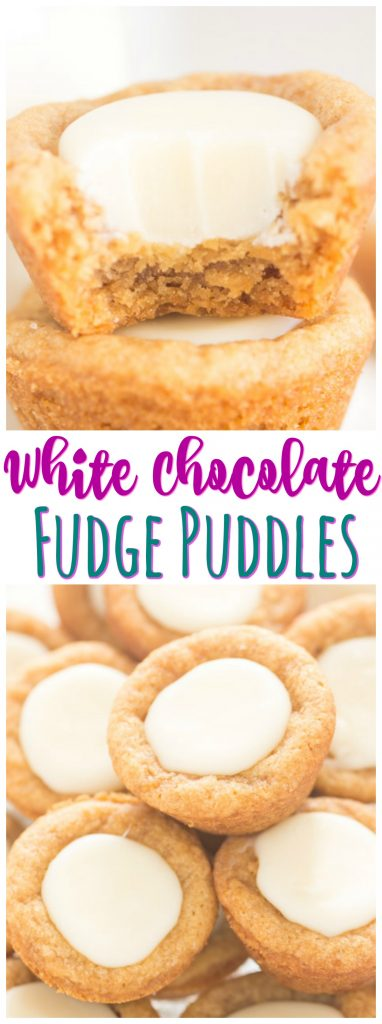 White Chocolate Fudge Puddles recipe image thegoldlininggirl.com pin 1