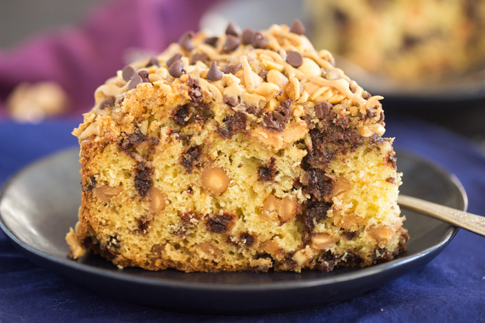 Chocolate Peanut Butter Coffee Cake The Gold Lining Girl