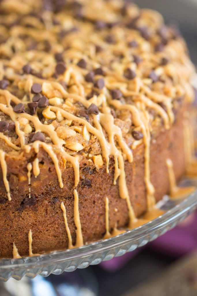 Chocolate Peanut Butter Coffee Cake recipe image thegoldlininggirl.com 4