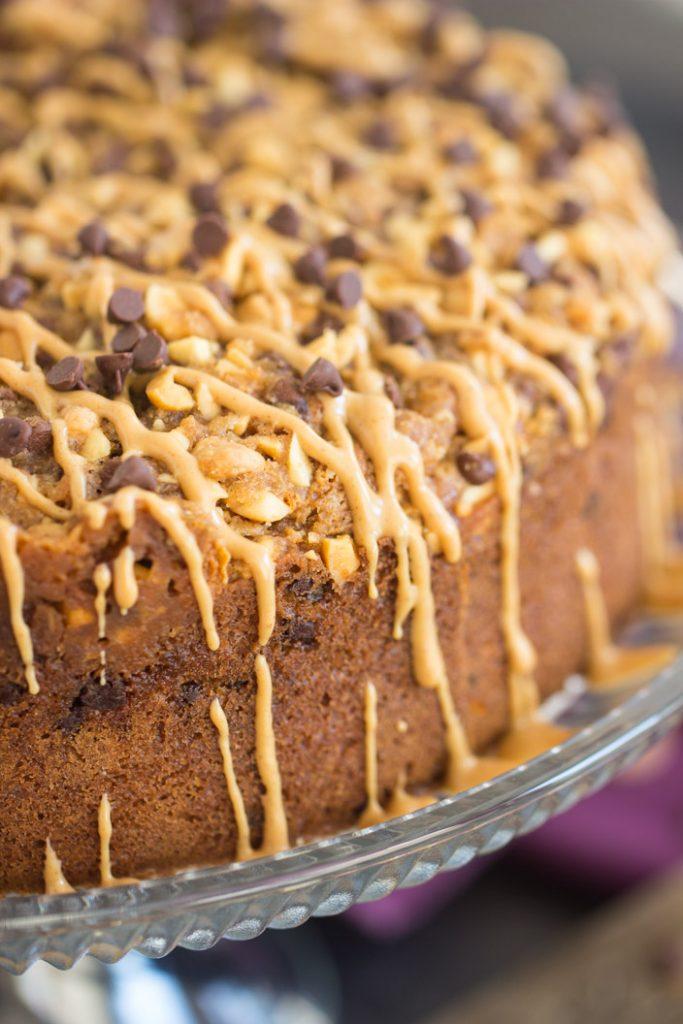 Chocolate Peanut Butter Coffee Cake recipe image thegoldlininggirl.com 4