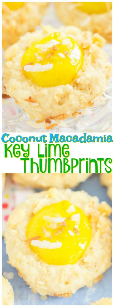 Coconut Macadamia Key Lime Thumbprints recipe image thegoldlininggirl.com long pin 1