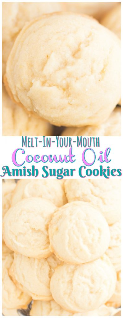 Coconut Oil Amish Sugar Cookies recipe image thegoldlininggirl.com long pin 1