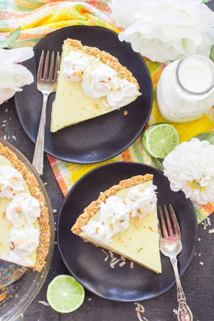 Easy Key Lime Pie recipe with Coconut Macadamia Crust recipe image thegoldlininggirl.com 12