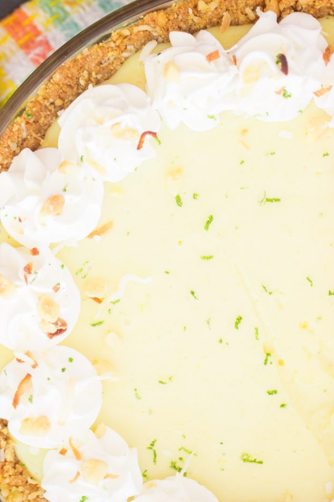 Easy Key Lime Pie recipe with Coconut Macadamia Crust recipe image thegoldlininggirl.com 8