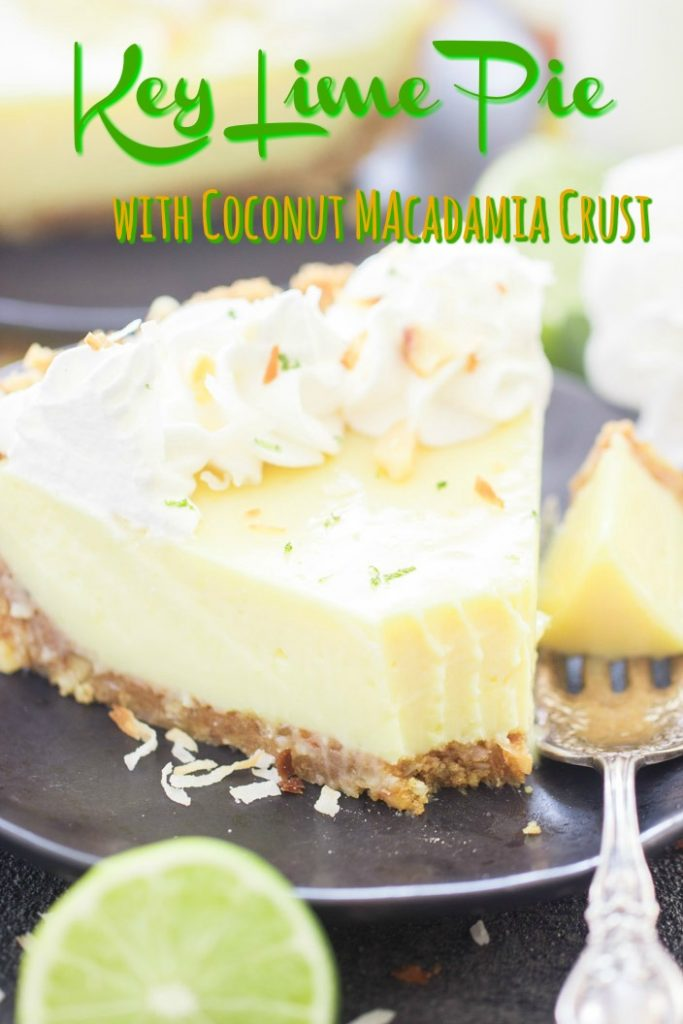 Easy Key Lime Pie recipe with Coconut Macadamia Crust recipe image thegoldlininggirl.com short pin 1