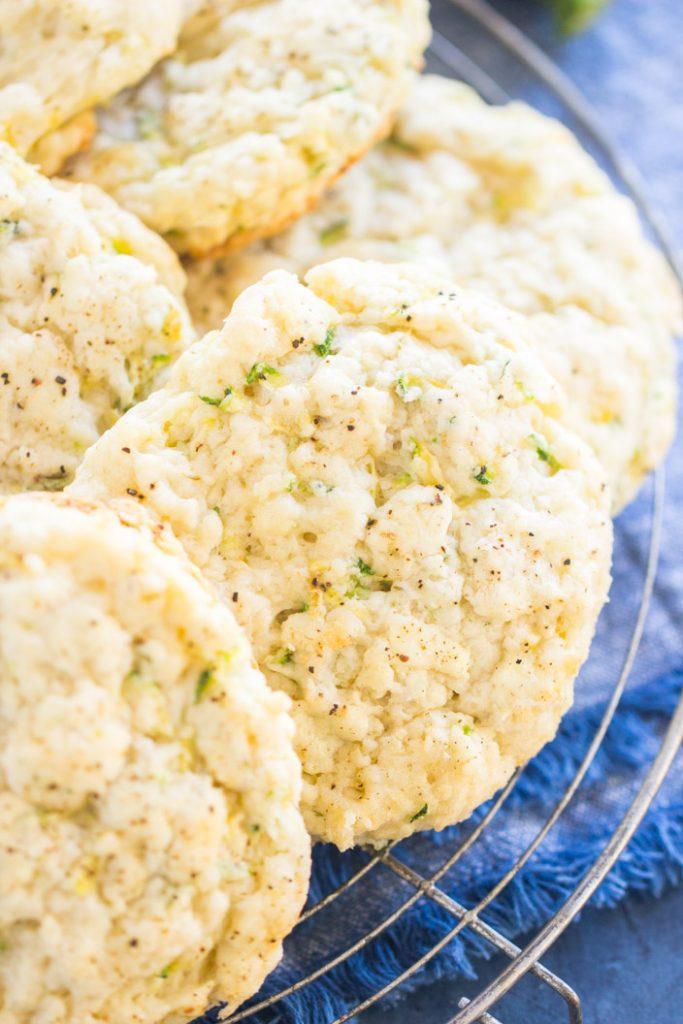 Goat Cheese Zucchini Scones recipe image thegoldlininggirl.com 3