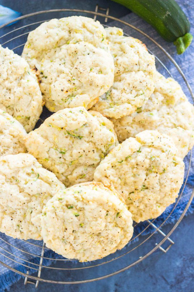 Goat Cheese Zucchini Scones recipe image thegoldlininggirl.com 4