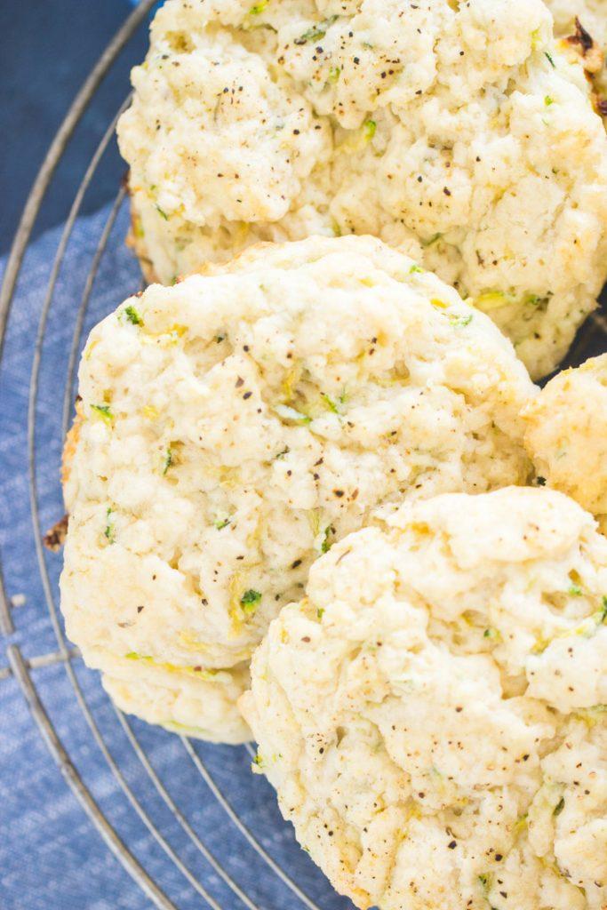 Goat Cheese Zucchini Scones recipe image thegoldlininggirl.com 5
