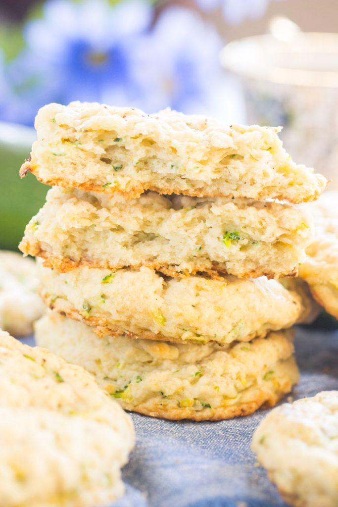 Goat Cheese Zucchini Scones recipe image thegoldlininggirl.com 8