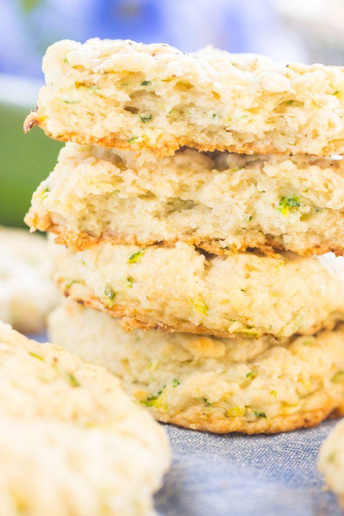 Goat Cheese Zucchini Scones recipe image thegoldlininggirl.com 9