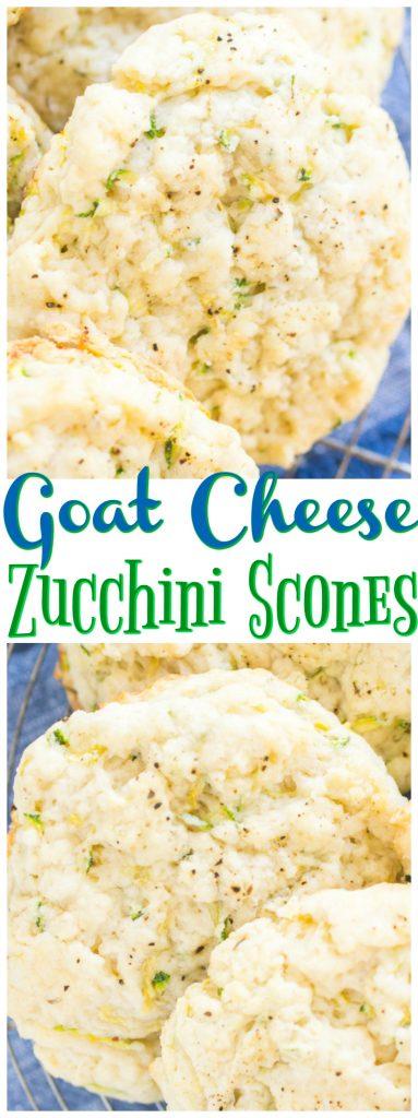 Goat Cheese Zucchini Scones recipe image thegoldlininggirl.com long pin 1