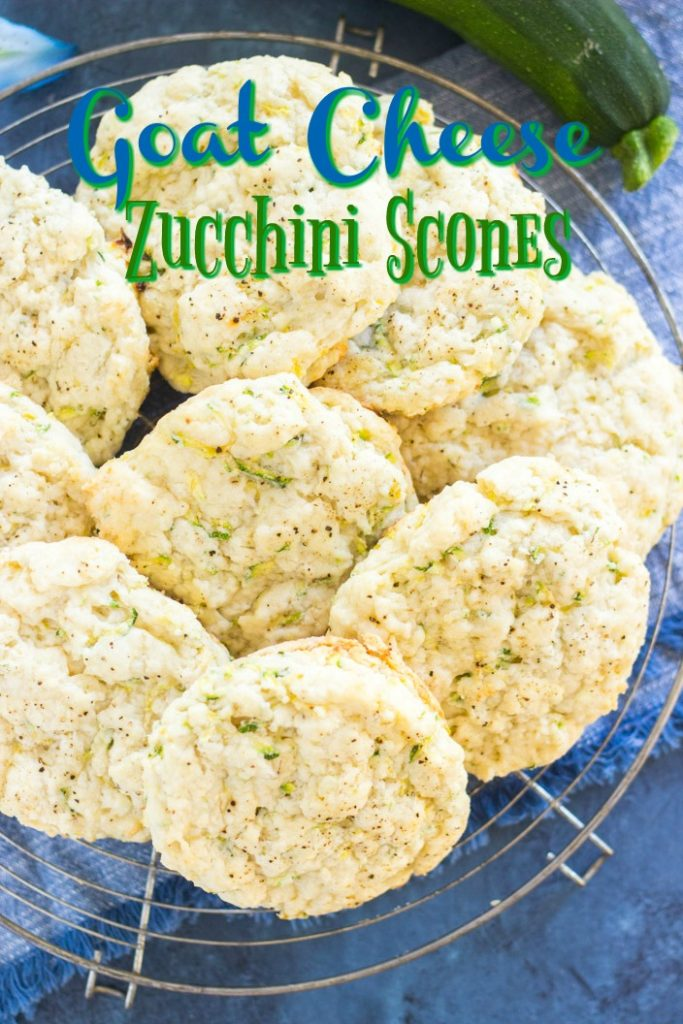 Goat Cheese Zucchini Scones recipe image thegoldlininggirl.com short pin 1