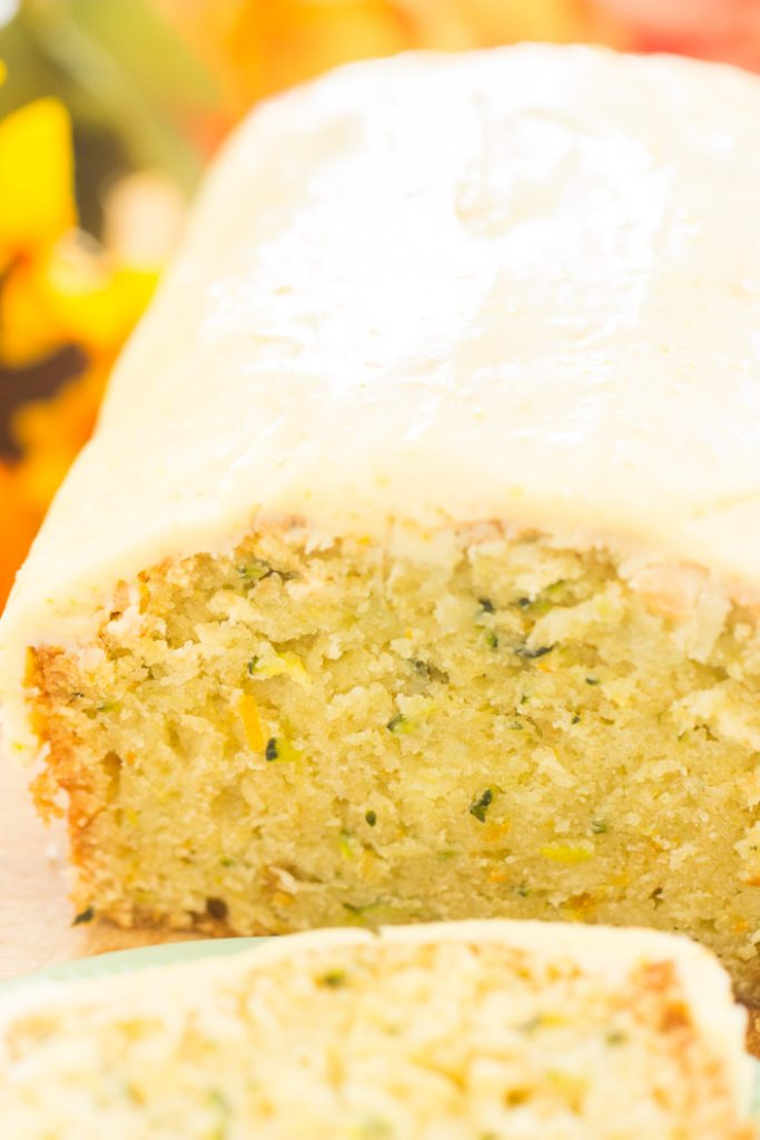 Orange Zucchini Bread with Orange Glaze recipe image thegoldlininggirl.com 14