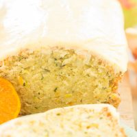 Orange Zucchini Bread with Orange Glaze