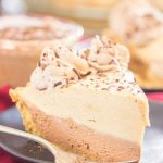No Bake Double Layer Chocolate Peanut Butter Pie Recipe