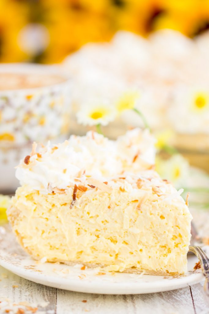 No Bake Easy Coconut Cream Pie recipe image thegoldlininggirl.com 13