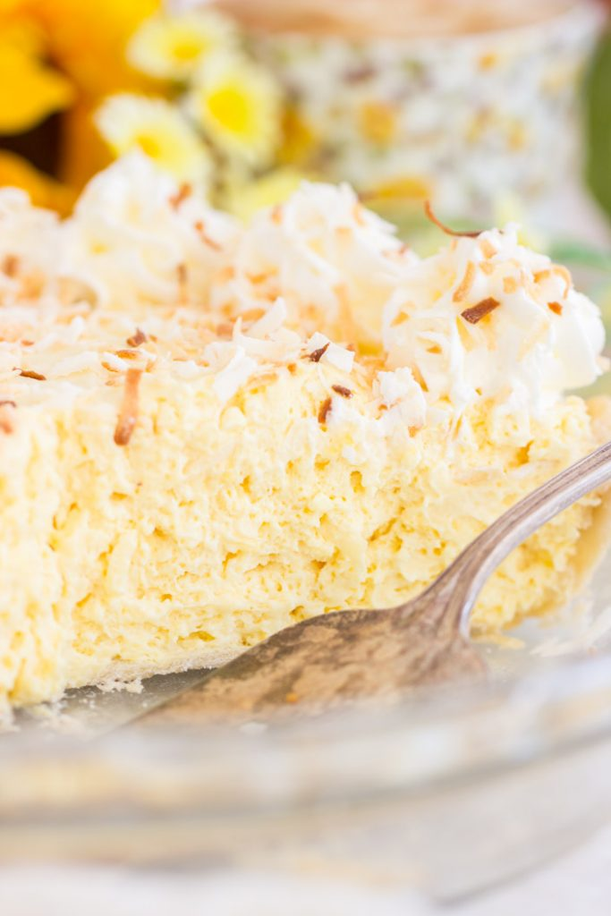 No Bake Easy Coconut Cream Pie recipe image thegoldlininggirl.com 9