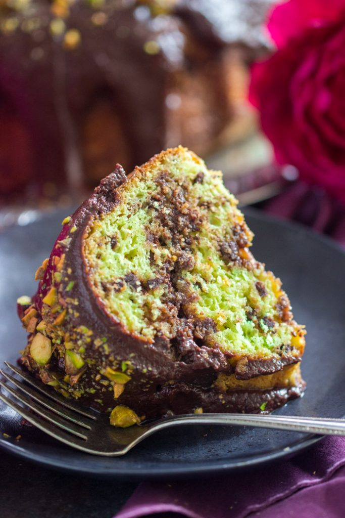Triple Chocolate Pistachio Bread with Chocolate Streusel recipe image thegoldlininggirl.com 16