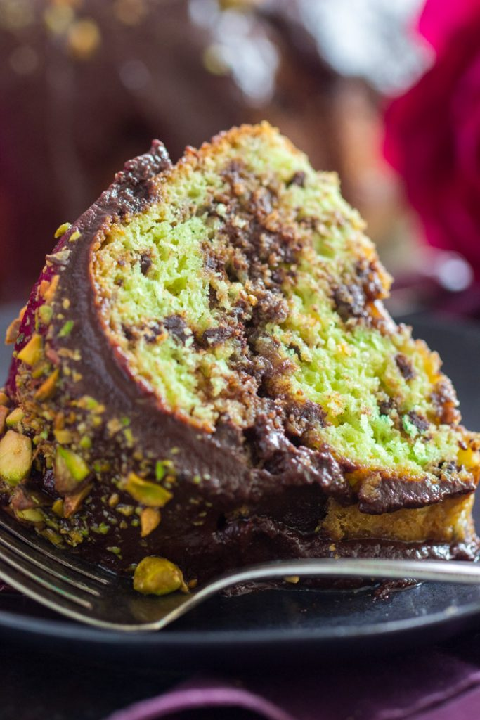 Triple Chocolate Pistachio Bread with Chocolate Streusel recipe image thegoldlininggirl.com 17