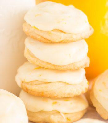 Iced Orange Amish Sugar Cookies recipe image thegoldlininggirl.com 600x900 3