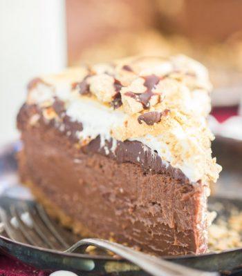 Nutella S'mores Cheesecake recipe image thegoldlininggirl.com 600x900 4