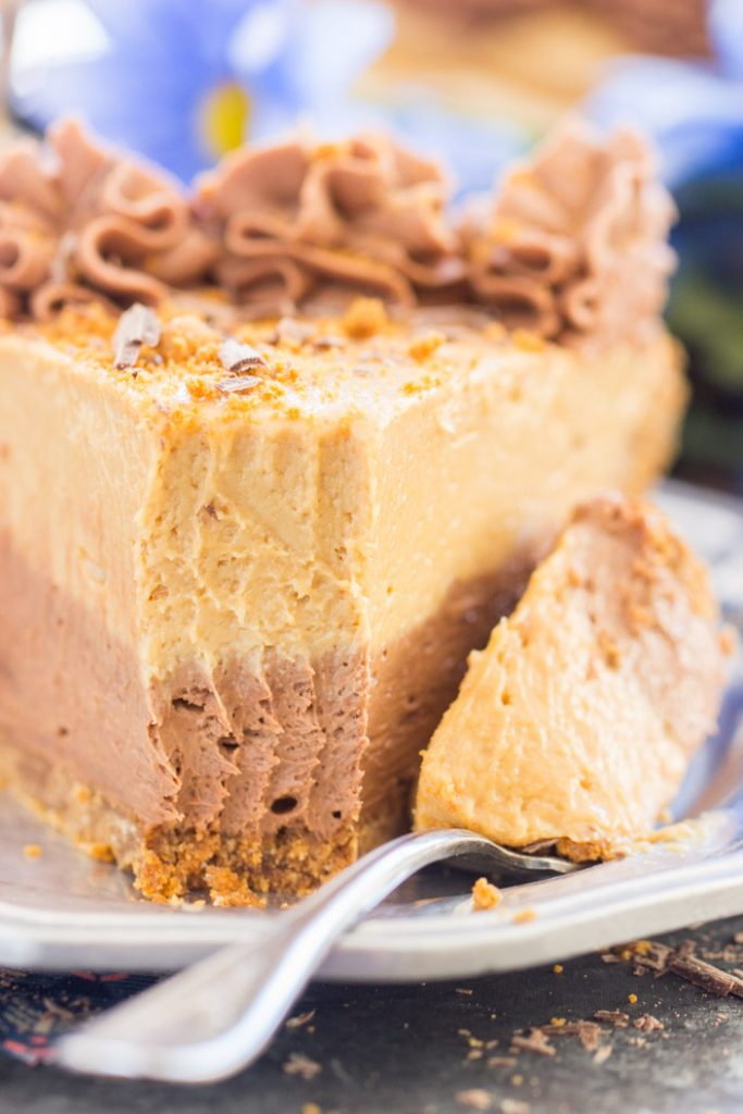 Chocolate Mocha Cookie Butter Cheesecake with Biscoff Crust 11
