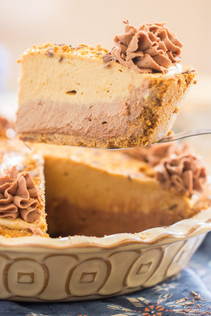 Chocolate Mocha Cookie Butter Cheesecake with Biscoff Crust 5