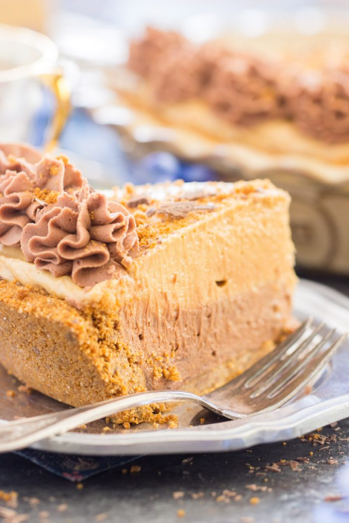 Chocolate Mocha Cookie Butter Cheesecake with Biscoff Crust 9
