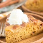 Pumpkin Apple Upside Down Cake recipe image thegoldlininggirl.com 13