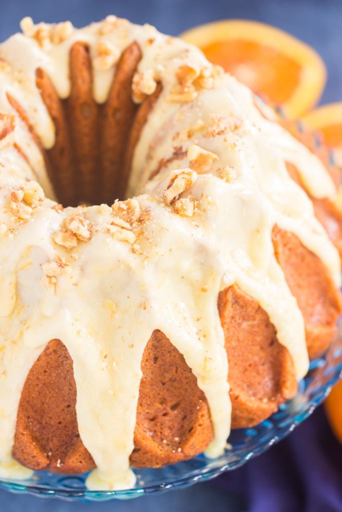 Sweet Potato Bundt Cake with Orange Glaze recipe image thegoldlininggirl.com 1