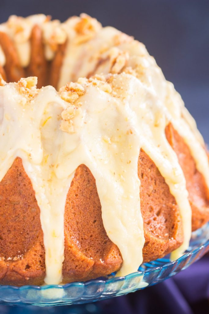 Sweet Potato Bundt Cake with Orange Glaze recipe image thegoldlininggirl.com 2