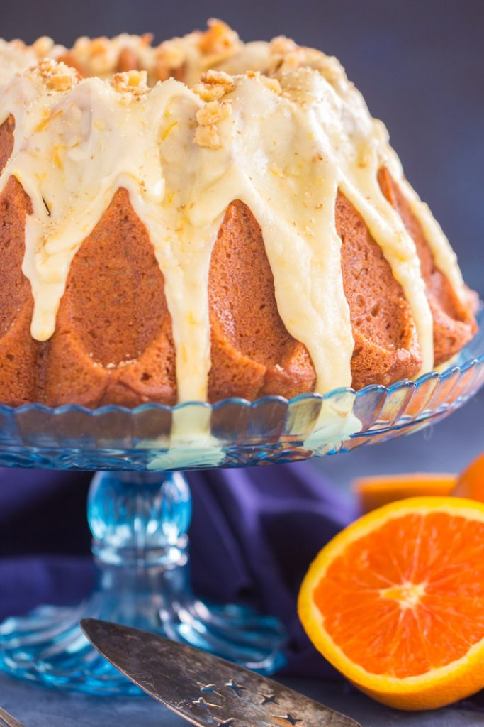 Sweet Potato Bundt Cake with Orange Glaze recipe image thegoldlininggirl.com 4