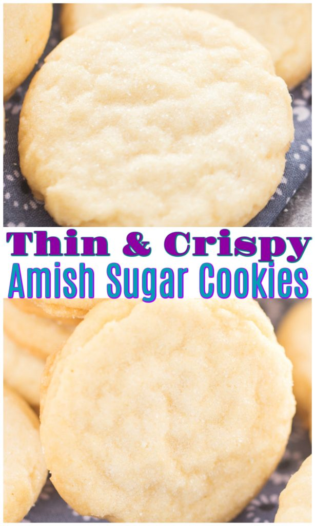 Thin & Crispy Amish Sugar Cookies recipe image thegoldlininggirl.com pin 2