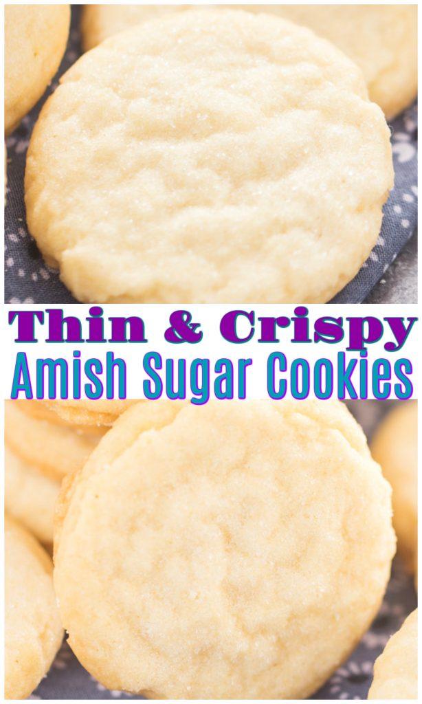 Thin & Crispy Amish Sugar Cookies recipe image thegoldlininggirl.com pin 2