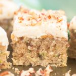 Zucchini Bars with Brown Butter Frosting recipe image thegoldlininggirl.com 17